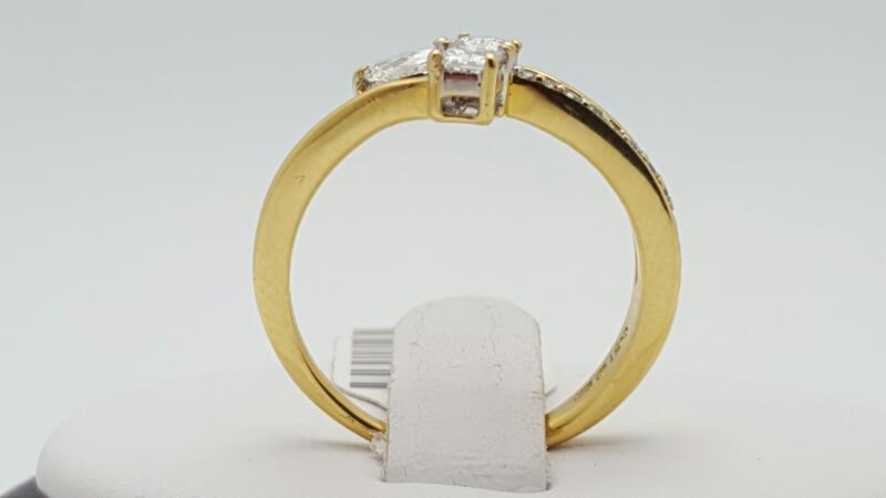 Lady's Diamond Fashion Ring 13 Diamonds .45 Carat T.W. 18K Yellow Gold 3.8g