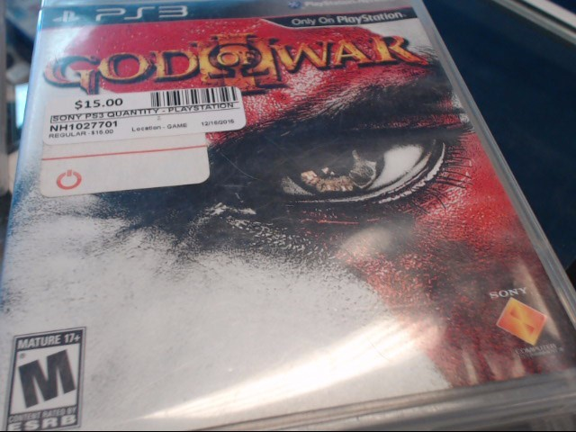 SONY PS3 GOD OF WAR