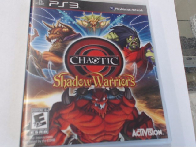 CHAOTIC SHADOW WARRIORS PS3 GAME