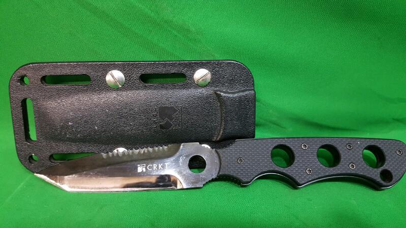 CRKT Combat Knife A.B.C. OPERATOR #2605 Hammond Design W/Sheath