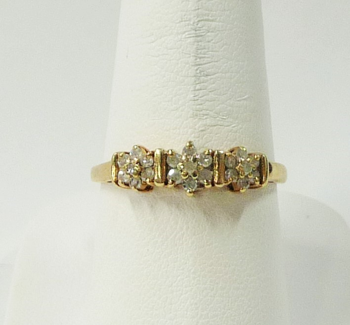 Lady's Diamond Fashion Ring 21 Diamonds .63 Carat T.W. 10K Yellow Gold 0.93dwt