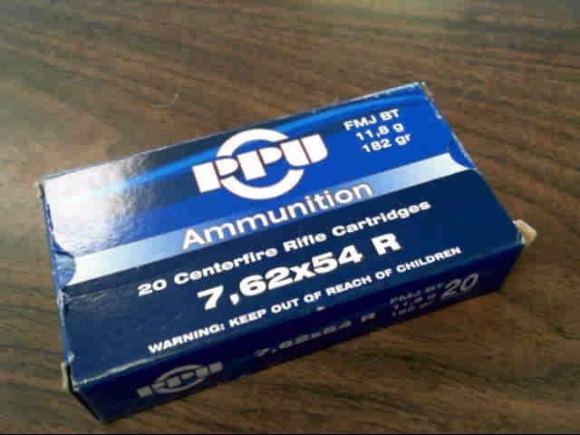 PPU AMMUNITION Ammunition 7.62X54 R