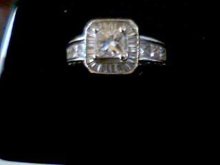 Lady's Diamond Engagement Ring 57 Diamonds 2.06 Carat T.W. 14K White Gold 5.3g