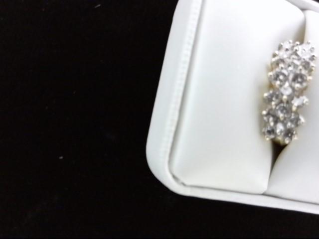 Lady's Diamond Cluster Ring 20 Diamonds 1.20 Carat T.W. 14K Yellow Gold 5g