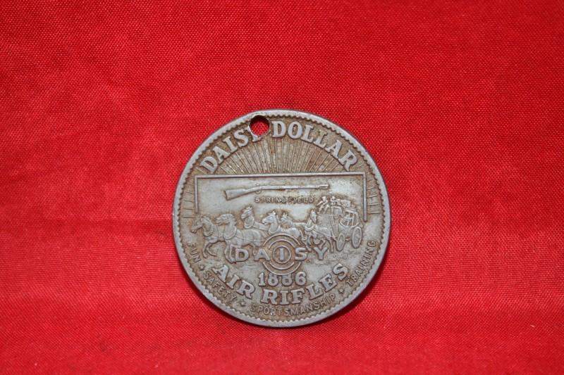 1886 DAISY DOLLAR BB Gun Air Rifle Token / Medal