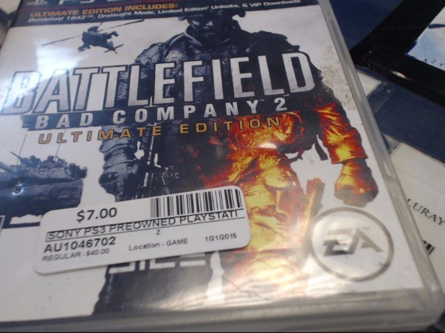 SONY PS3 BATTLEFIELD BAD COMP 2