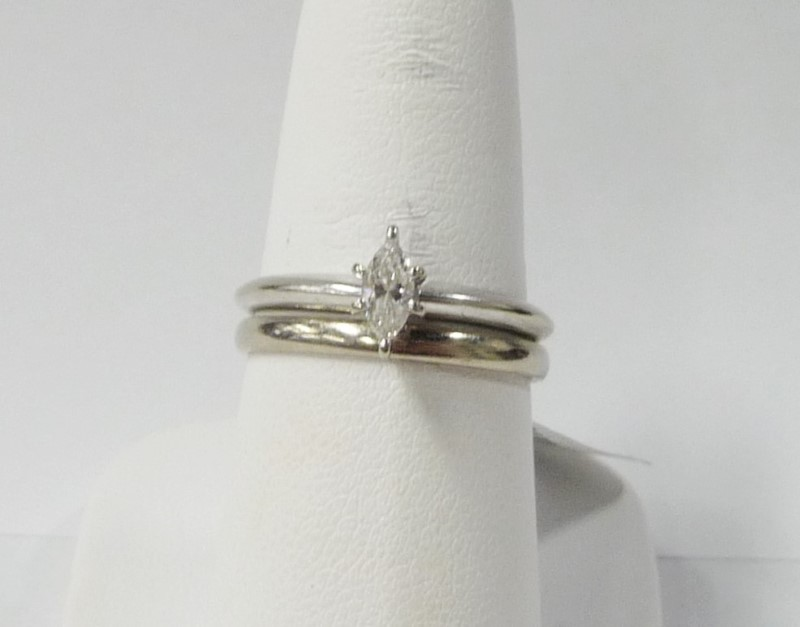 Lady's Diamond Wedding Set .25 CT. 10K White Gold 2.29dwt