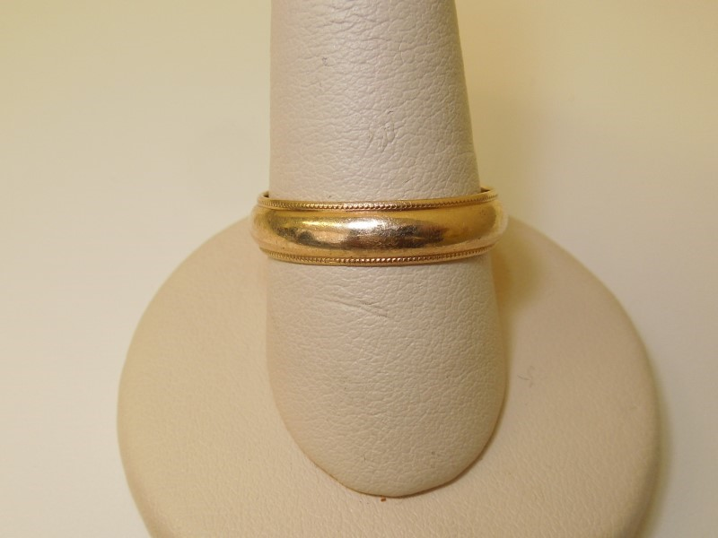 Gent's Gold Ring 14K Yellow Gold 4.3g Size:9.5