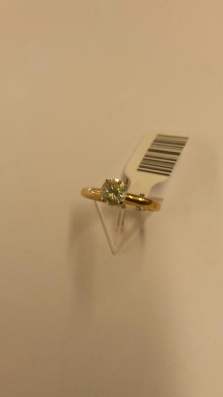 Lady's Diamond Solitaire Ring .48 CT. 14K Yellow Gold 1.33dwt Size:6