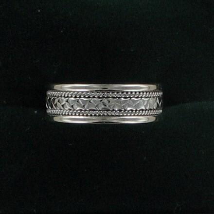 Lady's Gold Ring 14K White Gold 3.7dwt