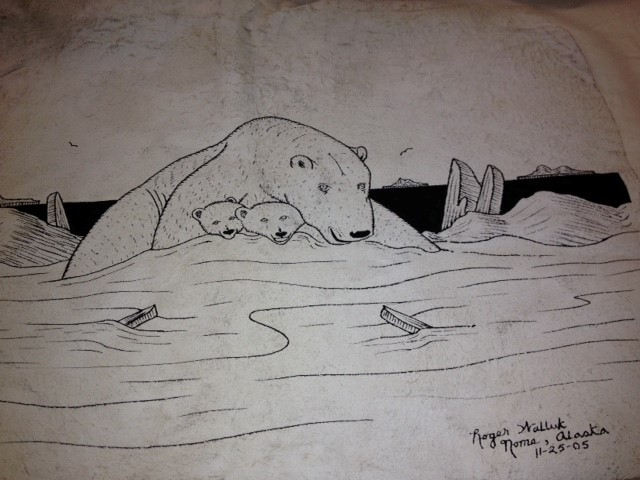 ROGER WALLUK FUR DRAWING POLAR BEAR AND CUBS