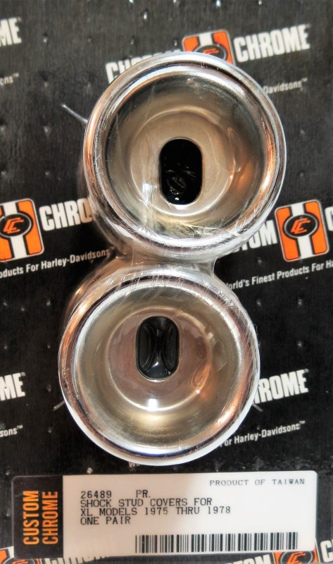 CCI 26489 SHOCK STUD COVERS FOR XL MODELS 1975 THRU 1978 ONE PAIR (OEM: 30-364)