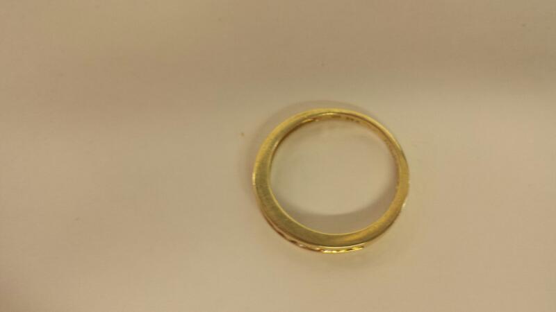 Lds 14K-YG Diamond Wedding Band: 12 Diamonds .24Cttw Size 7.5