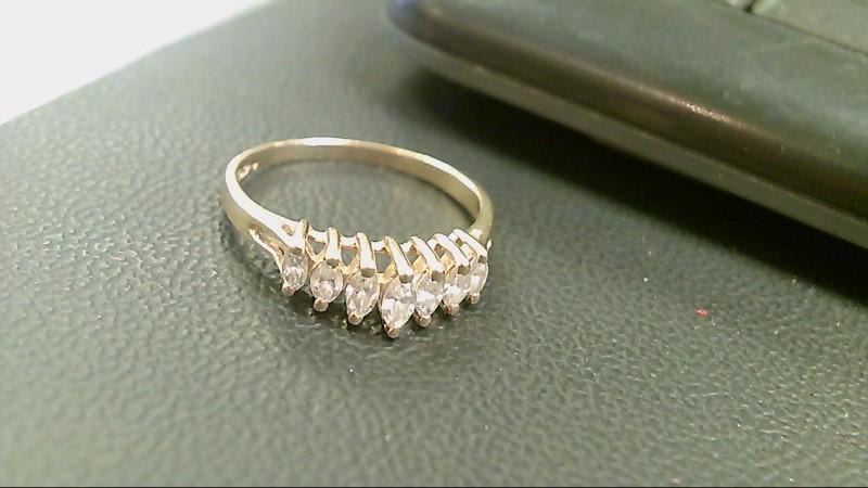 Lady's Diamond Cluster Ring 7 Diamonds 1.05 Carat T.W. 14K Yellow Gold 2.8g