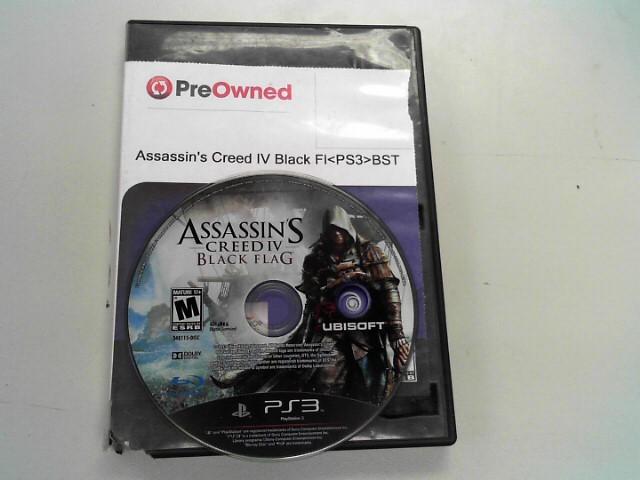 UBISOFT Sony PlayStation 3 Game ASSASSINS CREED BLACK FLAG PS3