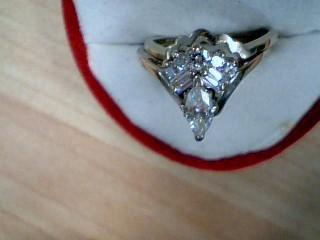 Lady's Diamond Solitaire Ring 8 Diamonds 1.75 Carat T.W. 14K White Gold 5g