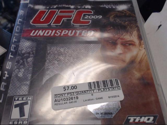SONY PS3 UFC UNDISPUTED 09