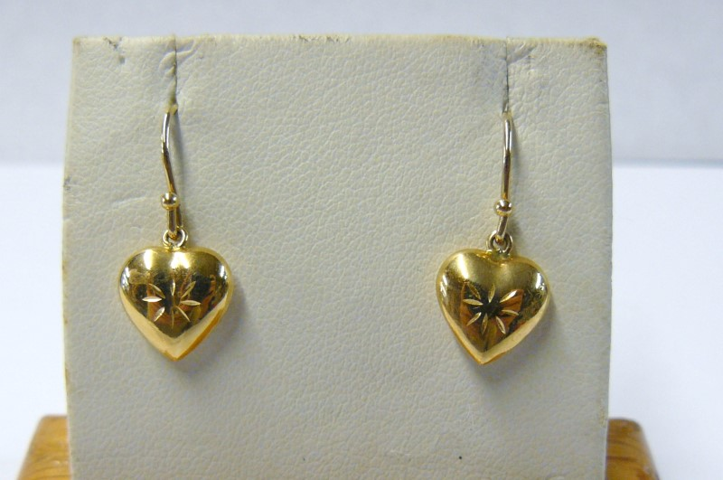 Gold Earrings 14K Yellow Gold 0.06dwt
