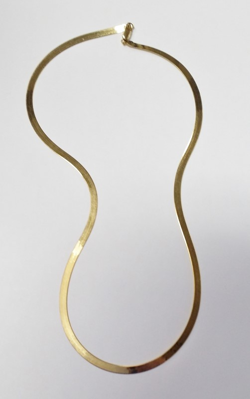 "20"" Gold Herringbone Chain 14K Yellow Gold 7.43g"