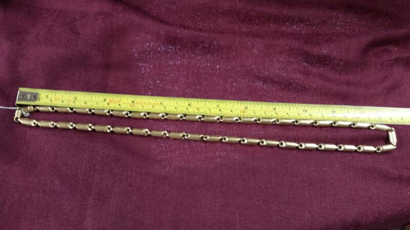 """27"""" Heavy Gold 6mm Hollow Rugged Bullet Chain 10K Yellow Gold 1.25 OUNCES!"""