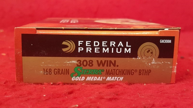FEDERAL AMMUNITION GM308M2 308 WIN 168GR SIERRA MATCHKING BTHP