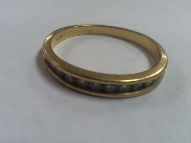 Lady's Diamond Fashion Ring 12 Diamonds .36 Carat T.W. 10K Yellow Gold 1.5g