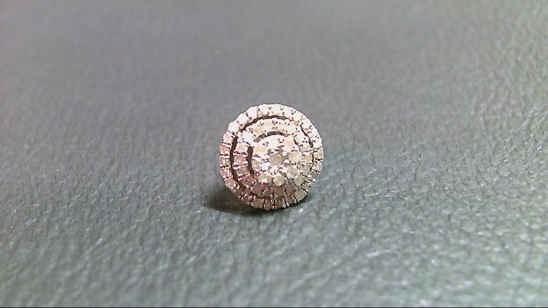Silver-Diamond Earrings 59 Diamonds .580 Carat T.W. 925 Silver 1.3g