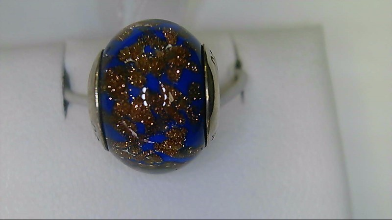 Lady's sterling silver blue brown reflection bead
