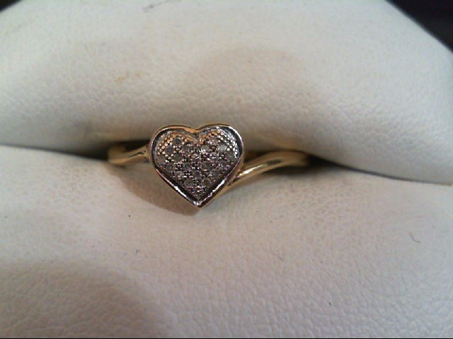 Lady's Diamond Cluster Ring 21 Diamonds .21 Carat T.W. 10K Yellow Gold 1.6g