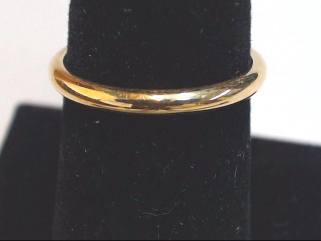 Lady's Gold Wedding Band 14K Yellow Gold 1.9g Size:6.5