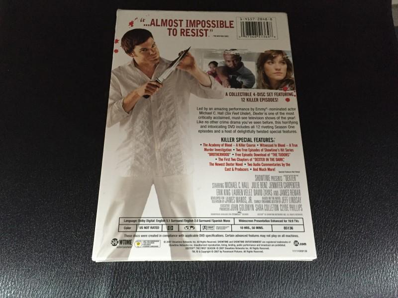 DVD BOX SET DVD DEXTER THE FIRST SEASON