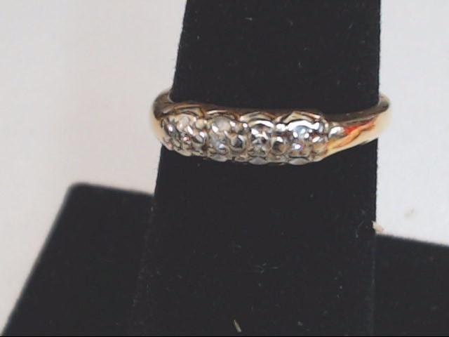 Lady's Gold-Diamond Anniversary Ring 4 Diamonds .020 Carat T.W. 14K Yellow Gold