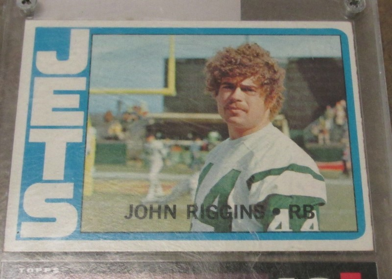 JOHN RIGGINS 1972 Topps Rookie Card in Double Case w. 1985 Card
