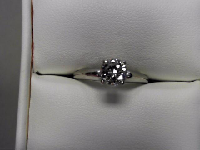 Lady's Diamond Engagement Ring .74 CT. 14K White Gold 2.88g Size:7.5