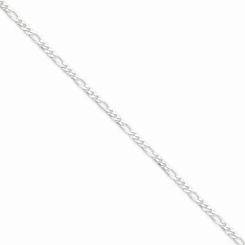 """22"""" Silver Figaro Chain 925 Silver 8g"""