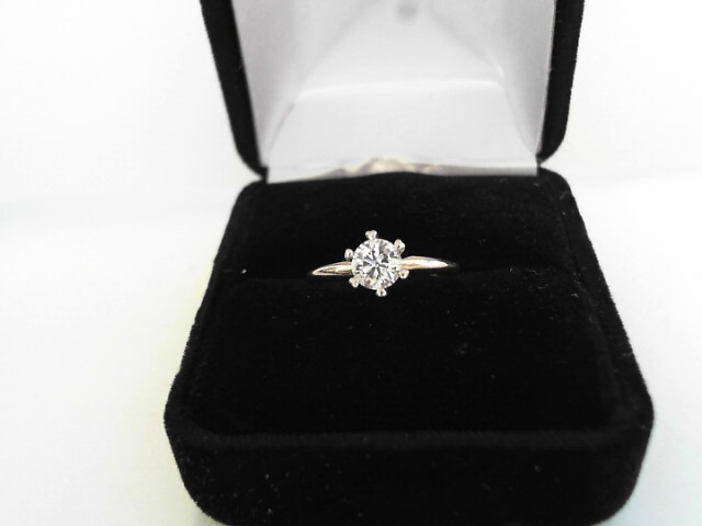 Lady's Diamond Solitaire Ring .53 CT. 14K Yellow Gold 1.2dwt