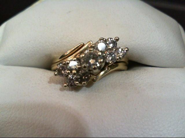 Lady's Diamond Wedding Set 9 Diamonds .89 Carat T.W. 14K Yellow Gold 5.9g