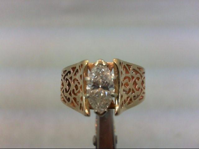Lady's Diamond Wedding Band 1.00 CT. 14K Yellow Gold 5.59g