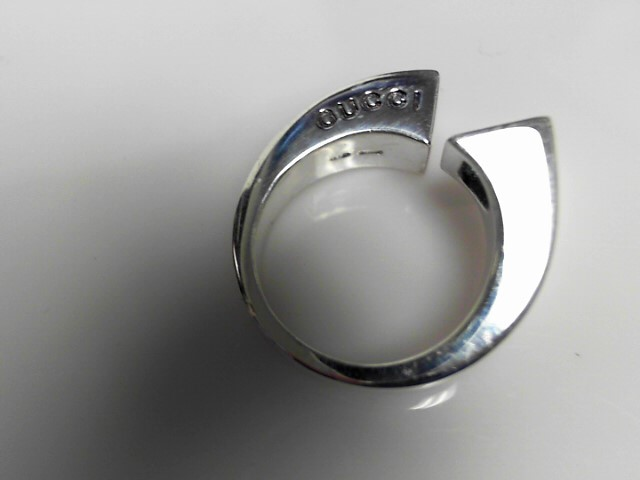 Gucci Topaz Sterling Silver Ring  11.58g Size:7.5
