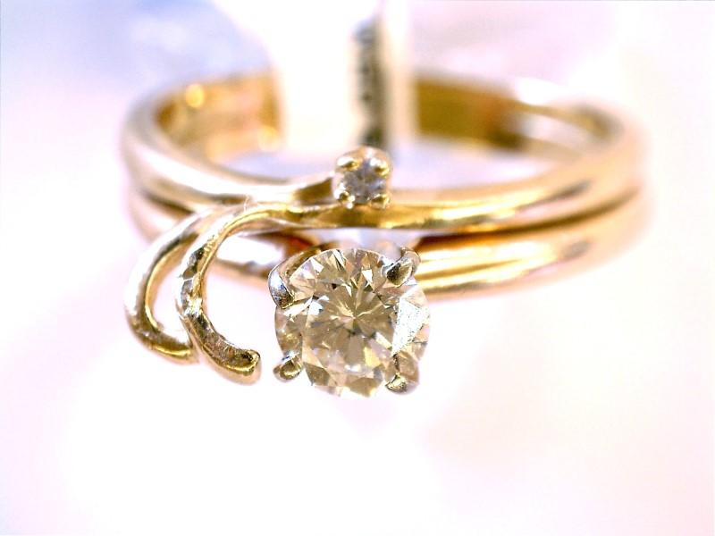 Lady's Diamond Wedding Set 2 Diamonds .54 Carat T.W. 14K Yellow Gold 2.33dwt