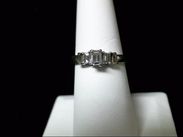 Lady's Platinum Diamond Fashion 5 Diamonds .82 Carat T.W. 950 Platinum 5.8g