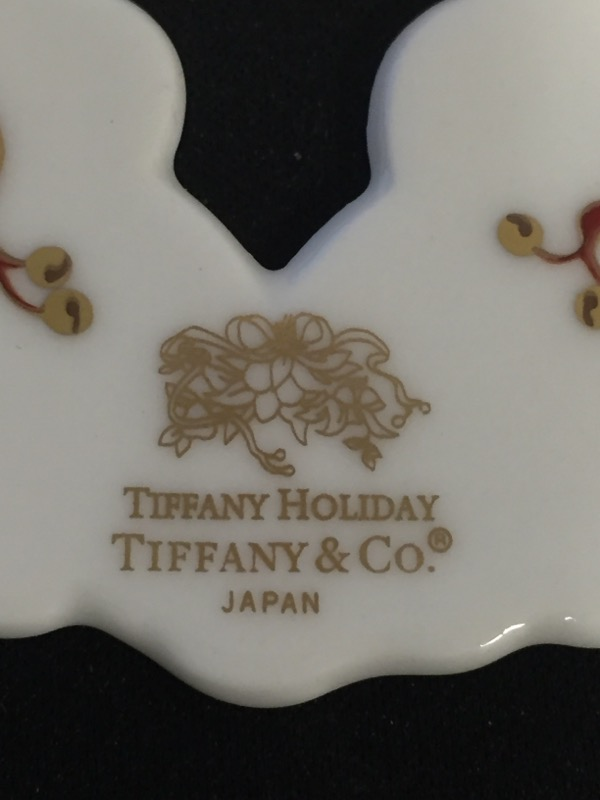 TIFFANY & CO Collectible Plate/Figurine TIFFANY HOLIDAY