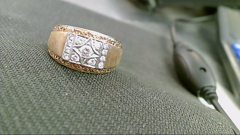 Gent's Diamond Cluster Ring 13 Diamonds 1.65 Carat T.W. 14K Yellow Gold 16.5g