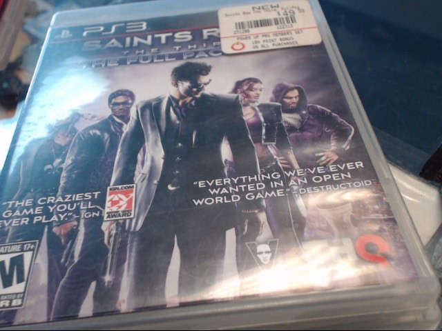 PS3 SAINTS ROW THE 3RD FULL PACK