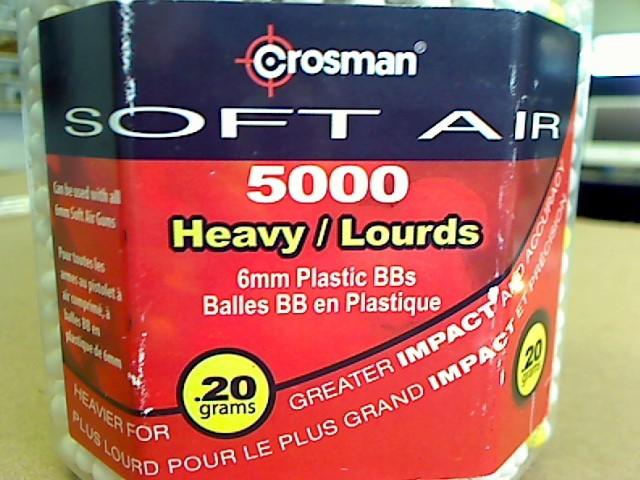 CROSMAN SOFT AIR 5000 HEAVY 6MM PLASTIC BB'S