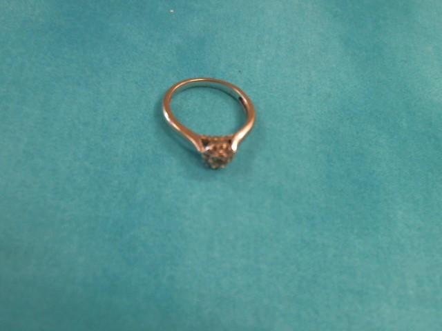 Lady's Diamond Solitaire Ring 30 Diamonds .30 Carat T.W. 10K White Gold 1.7dwt