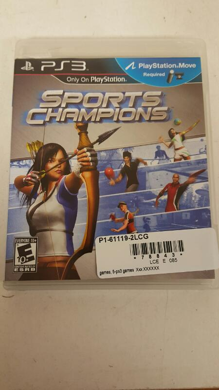 GAMES, 5-PS3 GAMESSports Champions (Sony PlayStation 3, 2010)  FREE SHIPPING