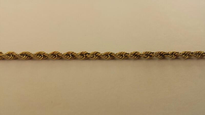 "10k 8"" Yellow Gold Rope Bracelet"