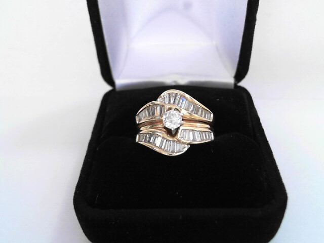 Lady's Diamond Solitaire Ring 39 Diamonds 2.18 Carat T.W. 14K Yellow Gold