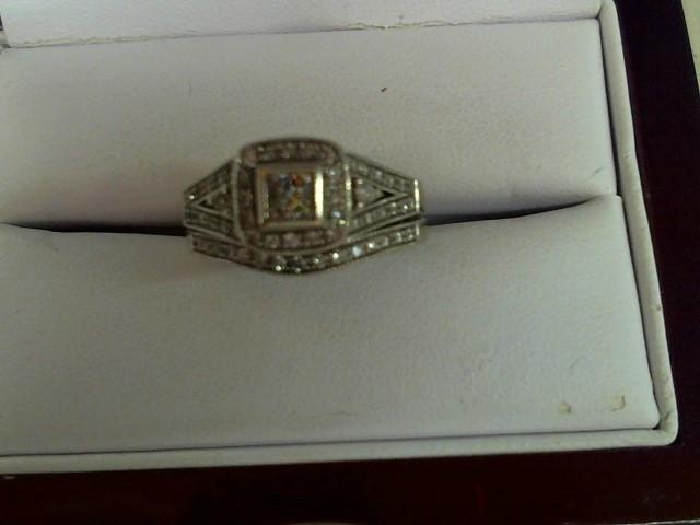 Lady's Diamond Wedding Set 31 Diamonds .75 Carat T.W. 14K White Gold 7.2g